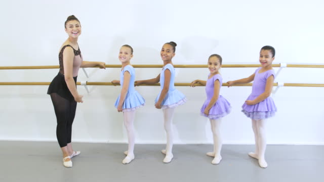 hispanic dance instructor with students in ballet class - 8 9 years stock videos & royalty-free footage