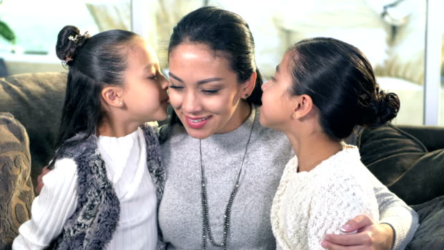 hispanic girls sharing secrets with mother - 6 7 years stock videos & royalty-free footage