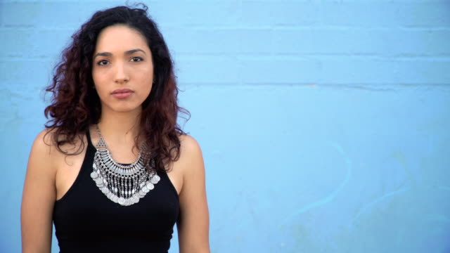 hispanic young woman with sensual attitude - hipster person stock videos & royalty-free footage