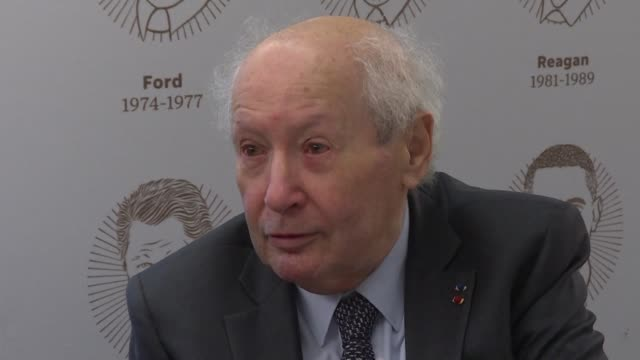 historian and former nazi hunter serge klarsfeld denounces the resurgence of an anti jew hatred after an attack against a california synagogue killed... - worshipper stock videos & royalty-free footage