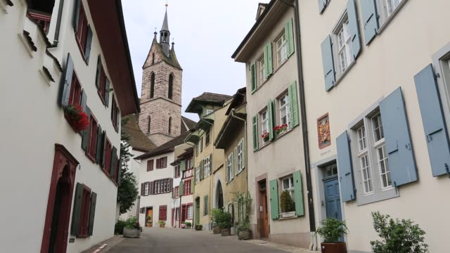 Historic architecture in the city of Basel, Canton Basel Stadt, Switzerland, Europe