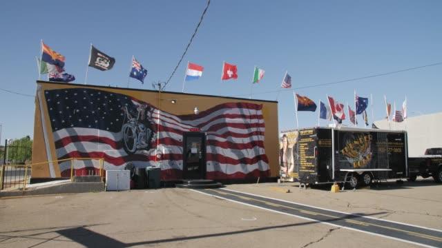 historic building on route 66, kingman, arizona, usa, america, united states, north america - kingman arizona stock videos & royalty-free footage