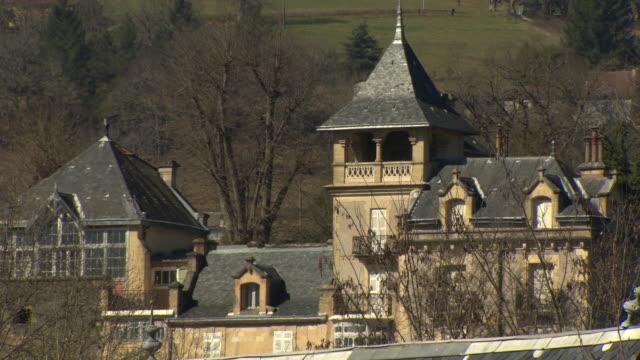Historic buildings in Montignac, Dordogne, France