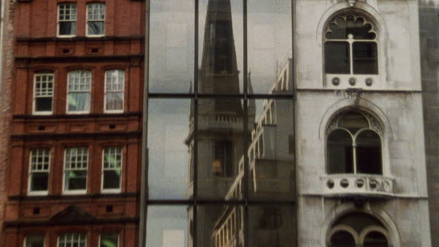 1985 montage historic buildings in the city / city of london, england† - 1985 stock videos & royalty-free footage