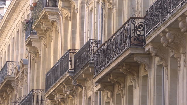 historic cast iron balconies - old town Bordeaux
