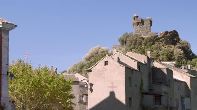 Historic Castle tower in Nonza, Corsica