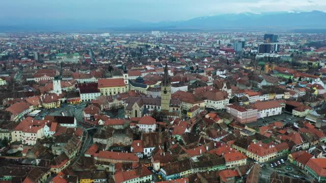 historic center of sibiu - siebenbürgen stock-videos und b-roll-filmmaterial
