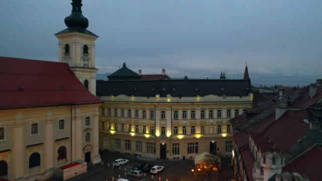 historic center of sibiu - transylvania stock videos & royalty-free footage