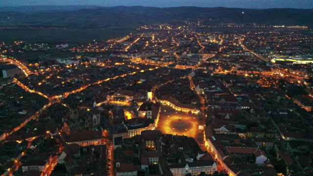 vidéos et rushes de historic center of sibiu - transylvanie