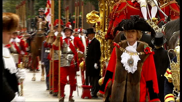 woolf steps down as chair lib england city of london ext fiona woolf along at swearingin ceremony - lord mayor of london city of london stock videos & royalty-free footage