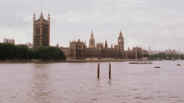 Historic child sex abuse inquiry opens VS180880005 1881980 / VS210780003 2171980 EXT Wide shot of Houses of Parliament and Big Ben seen across River...