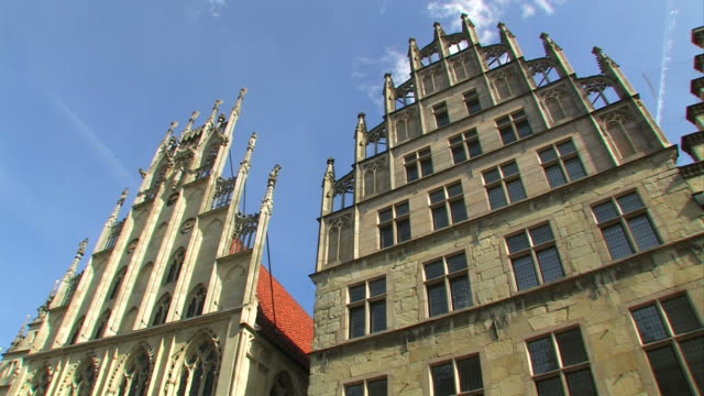 歴史あるシティホール münsterから - ノルトラインヴェストファーレン州点の映像素材/bロール
