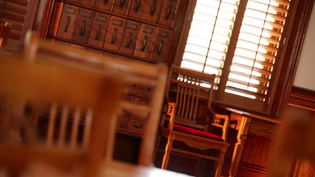 historic courthouse interior - court room stock videos & royalty-free footage