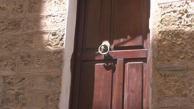historic door with doorknob - handle stock videos and b-roll footage
