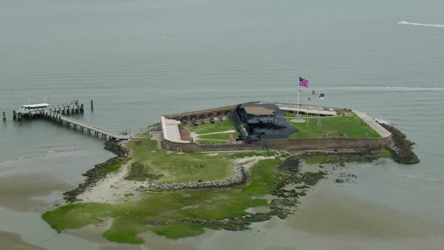 historic fort sumter in south carolina - carolina del sud video stock e b–roll