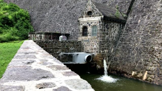 Historic German dam in South West Poland in Zagorze Slaskie near Swidnica city
