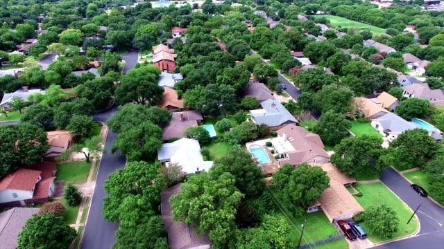 Historic Houses in Austin Texas near Burnet Rd aerial view of neighborhood