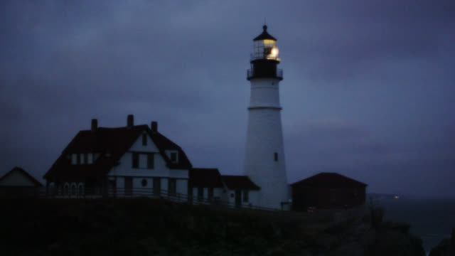 historic lighthouse  - maine stock videos & royalty-free footage