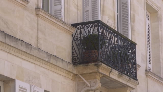 historic little cast iron balcony - cast iron stock videos and b-roll footage