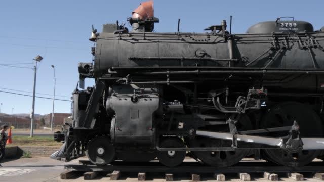 historic locomotive, locomotive park, rout 66 in kingman, arizona, usa, north america - kingman arizona stock videos & royalty-free footage