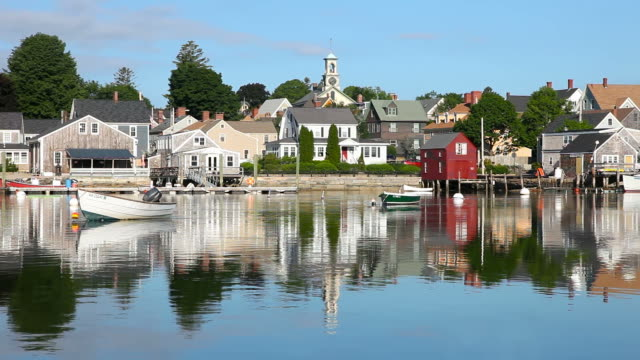 historische portsmouth, new hampshire - region new england stock-videos und b-roll-filmmaterial