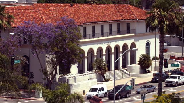 ws ha historic post office building erected 1931 / san bernadino, california, usa - post office stock videos and b-roll footage