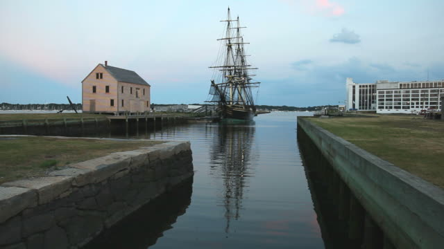 historic salem harbor - massachusetts stock videos and b-roll footage
