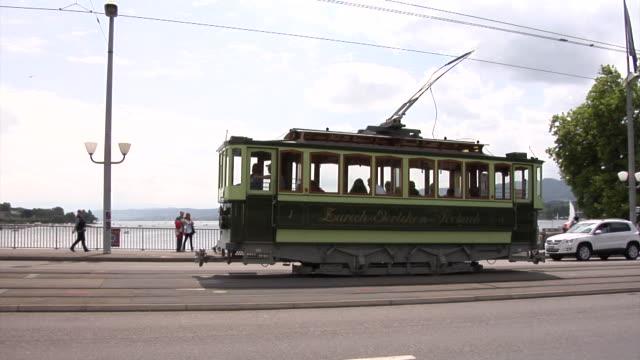 Historic tram in Zürich