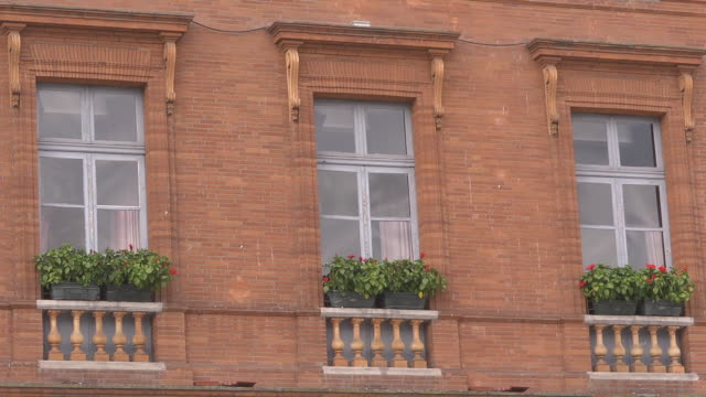 historic windows - brick house stock videos and b-roll footage