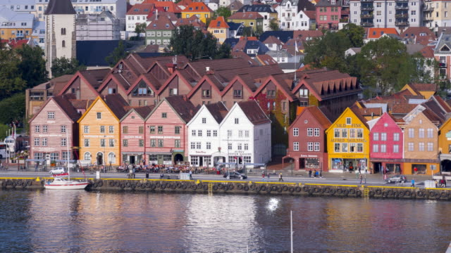 historical buildings in bryggen - history stock videos & royalty-free footage