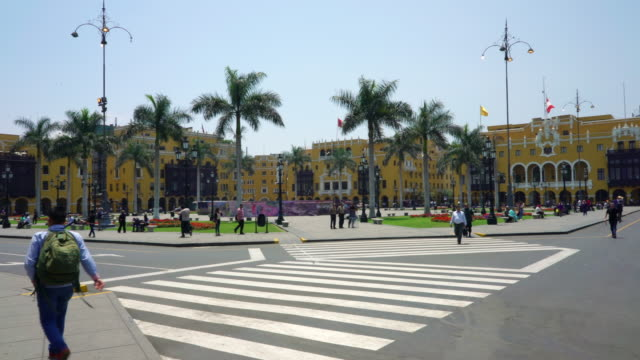 historical center of lima, peru - lima peru stock videos and b-roll footage