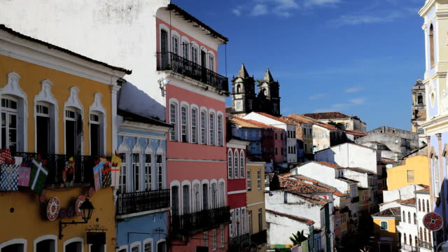 Historical center of Pelourinho in old Salvador, Brazil, South America