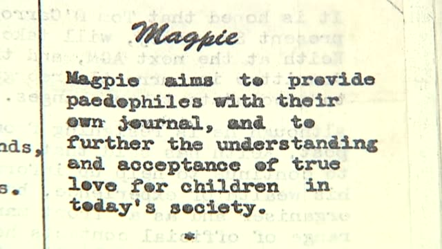 brothel madam 'denies sir edward heath claims' lib article from 'magpie' journal - bordell stock-videos und b-roll-filmmaterial