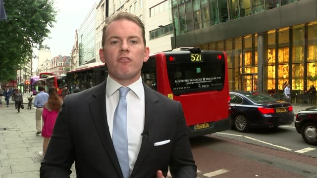 brothel madam 'denies sir edward heath claims' london ipcc ext reporter to camera tilt up to independent police complaints commission - bordell stock-videos und b-roll-filmmaterial