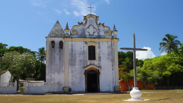 ws historical church of our lady at pen city / porto seguro, bahia, brazil - porto seguro stock videos & royalty-free footage
