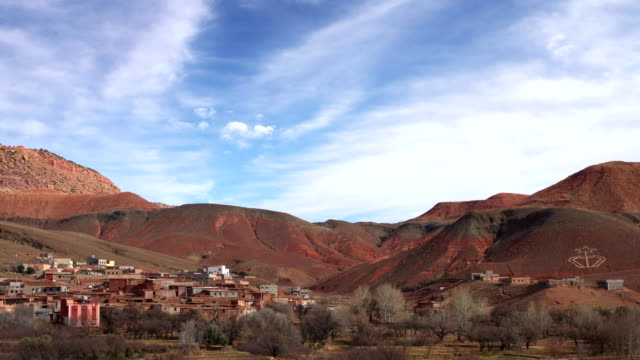 historical complex of aït benhaddou. old brick village on the desert - arid stock videos and b-roll footage
