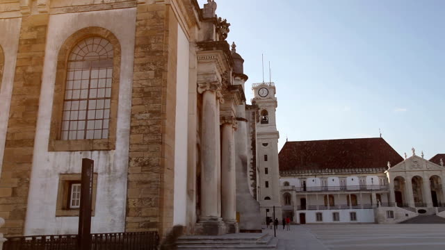 historical european university: universidade de coimbra - portuguese culture stock videos & royalty-free footage
