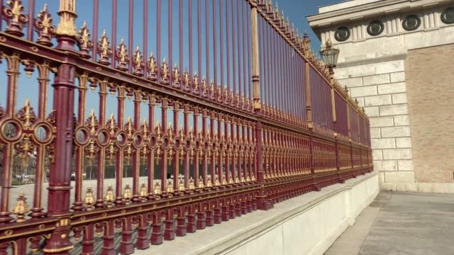 historical fence hofburg complex - the hofburg complex stock videos & royalty-free footage