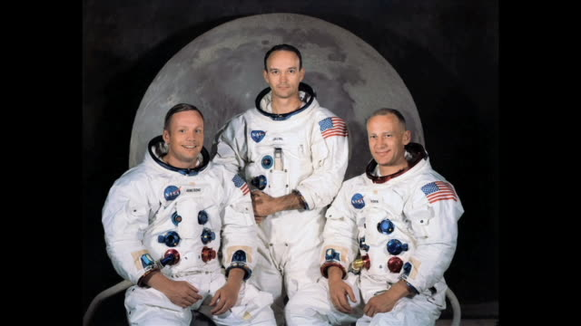 historical footage of the apollo 11 mission to the moon. the original footage was enhanced in 2009. the available audio has been greatly improved by... - audio available stock-videos und b-roll-filmmaterial