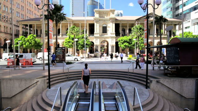 historical general post office, city centre, brisbane, queensland, australia, southern hemisphere - southern hemisphere stock videos & royalty-free footage