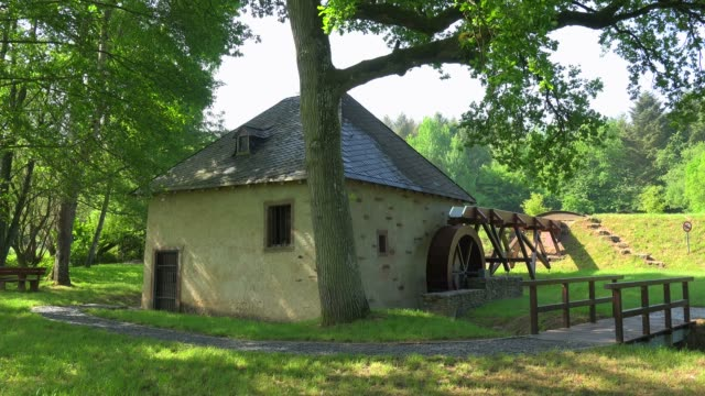 Historical Oil Mill in the District of Niedermennig, Konz, Rhineland-Palatinate, Germany