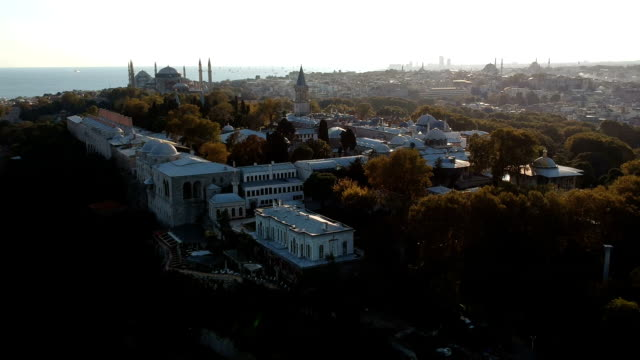 historical peninsula of ancient istanbul - topkapi palace stock videos and b-roll footage