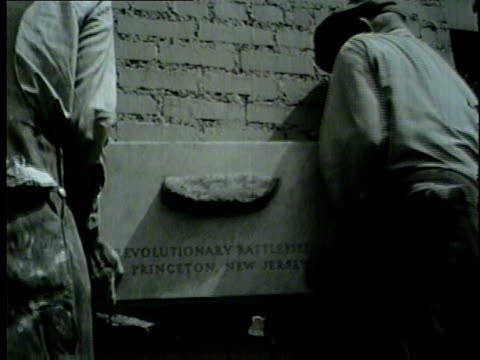 historical stone imbedded in tribune tower on may 25 1954 - 1954 stock videos and b-roll footage