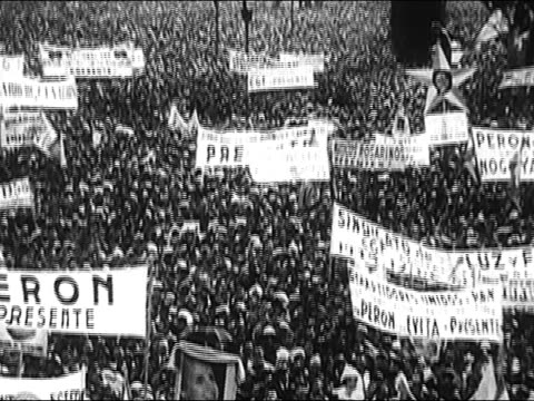 vídeos de stock, filmes e b-roll de 1963 - history of 20th century argentina - encorajamento