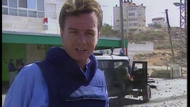 history of the conflict between israeli and the arab states following the foundation of the jewish state october 2000 west bank ramallah ext reporter... - ramallah stock videos and b-roll footage