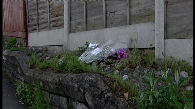 hit and run accident kills 11 year old boy england nr bristol westburyontrym ext police chalk marks on road where 11yearold boy sam riddall was hit... - old westbury stock videos and b-roll footage