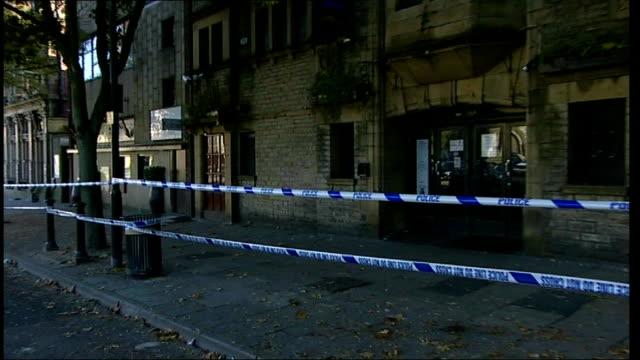 hit and run injures fourteen people outside rochdale nightclub england lancashire rochdale packer street ext police on duty in street outside... - rochdale england stock videos & royalty-free footage