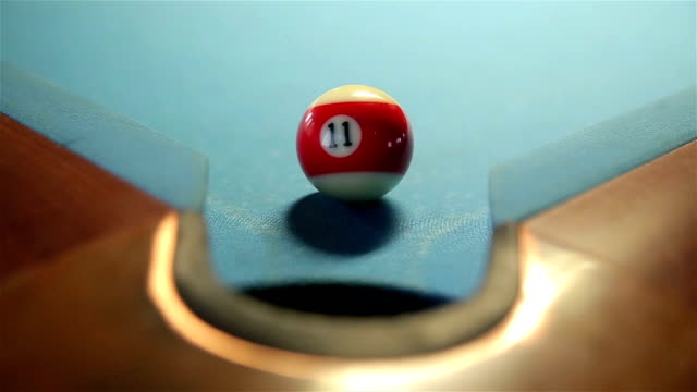 hit the ball in the hole, billiards - carrom stock videos & royalty-free footage