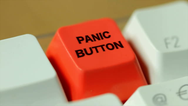 hit the panic button. hd - computer part stock videos and b-roll footage