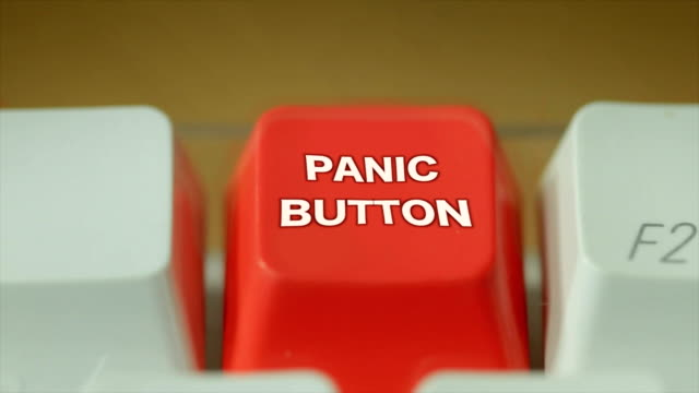 hit the panic button. hd - danger stock videos & royalty-free footage